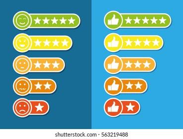 Consumer rating flat icon