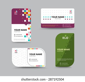Business card template name card design stock vector royalty free contact card template business name card design set vector illustration cheaphphosting Images
