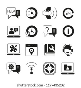 contact and customer support icons