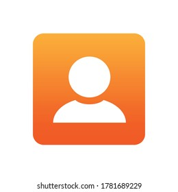 Contact With Flat Icon Illustration