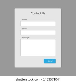 Contact form page template isolated