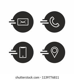 Contact icon information set. vector