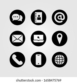contact icon for Information support. icon set vector. communication symbol