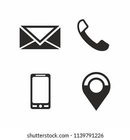Contact Icon set. Vector