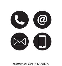 contact icon vector illustration logo template