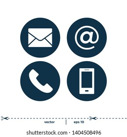 Contact Icons Symbol Logo template