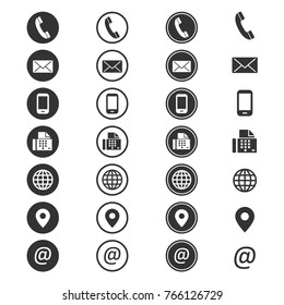 Contact info icon. Phone address-book, button contacts of the user, cell phone number or an email address information. Vector flat style cartoon contact us illustration isolated on white background - Shutterstock ID 766126729