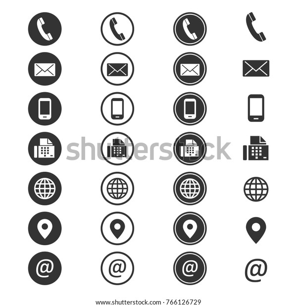 Contact info icon. Phone address-book, button contacts of the user, cell phone number or an email address information. Vector flat style cartoon contact us illustration isolated on white background