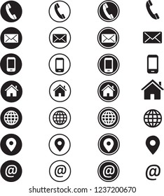 Contact Information Icon set in Vector format, 28 different icons.
