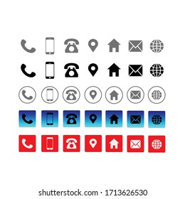 Contact information Icon in Vector Format