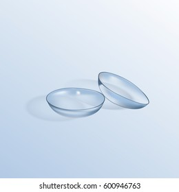 Contact Lenses. Realistic isolated vector illustration
