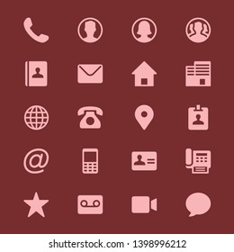 Contact simple icons - Vector