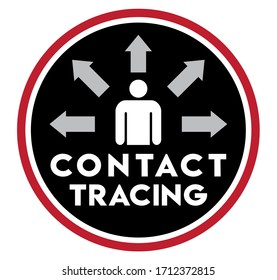 Contact Tracing Icon | Symbol to Promote Health Education | Vector Logo, Virus Tracking Apps & Technology, Social Media Glyph