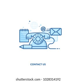 Contact us concept design. line design