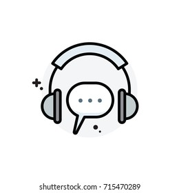 Contact us concept Isolated Line Vector Illustration editable Icon