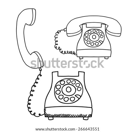 Contact Us Design Over White Background Stock Vector Royalty Free