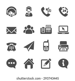 contact us icon set, vector eps10.