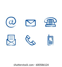 Contact us icon set vector illustration.