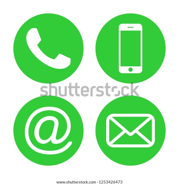 Contact Us Icons Phone Icon Vector Stock Vector (Royalty