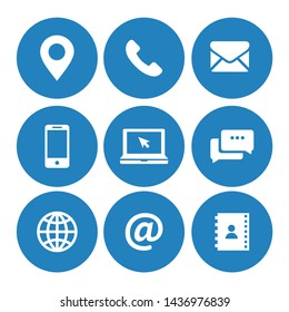 Contact us icons symbol vector