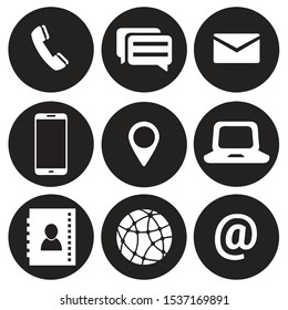 Contact us icons. symbol for your design. Contacts and communication.