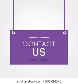 contact us label sticker