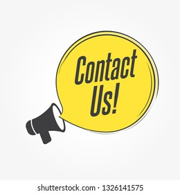 Contact Us Megaphone Announcement