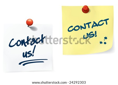 Contact Us Notes Set Easy Edit Stock Vector (Royalty Free