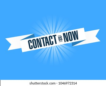 contact us now. Illustration Design graphic. Vintage ribbon. banner illustration design