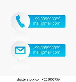 Contact Us Phone & Mail Labels
