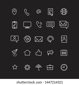 Contact us set icons, vector illustration