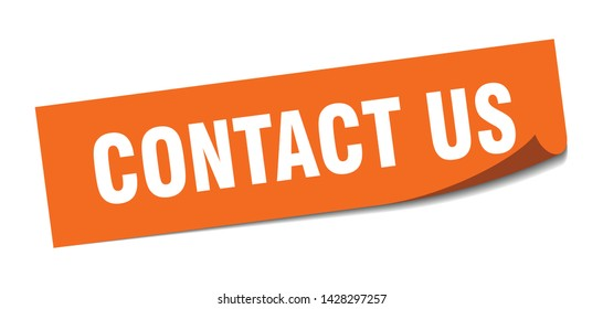 contact us square sticker. contact us sign. contact us banner
