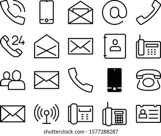 contact vector icon set such as: network, hotline, badge, wi-fi, rounded, identification, center, notebook, blank, assistance, shine, set, receiver, hot, success, avatar, week, contour, diary