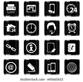 contacts vector icons for user interface design