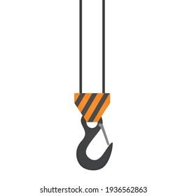 Container hook isolated. vector illustration