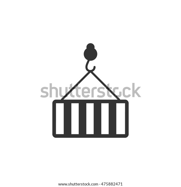 Container Icon Single Color Industrial Business Stock Vector