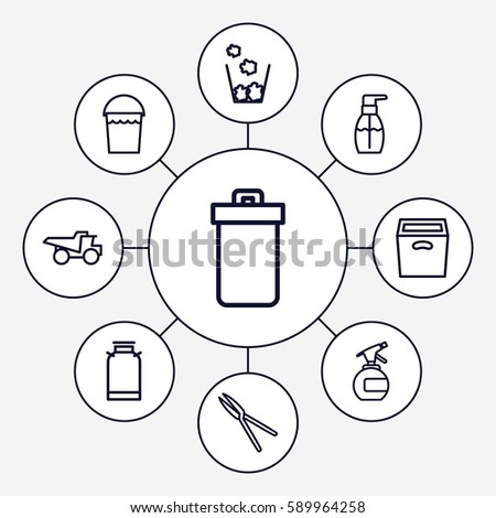 Container Icons Set Set 9 Container Stock Vector Royalty Free
