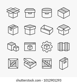 Container and packing vector symbol icons