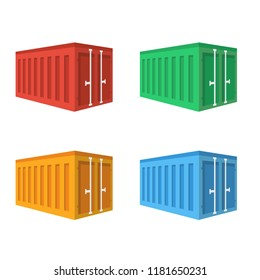 Container port flat icon. You can be used Container port icon for several purposes like: websites, UI, UX, print templates, promotional materials, info-graphics, web and mobile phone apps.