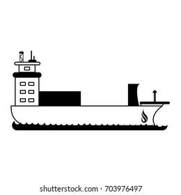 container ship natural gas industry icon image