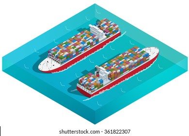 Container ships orcontainerships are cargo ships that carry all of their load in truck-size intermodal containers. Ocean transport.
