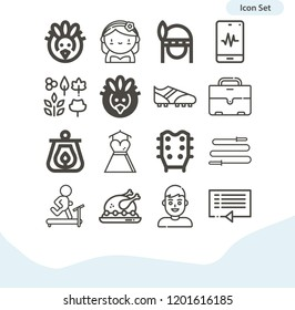 Contains such icons as bride, wedding dress, shoe, father, suitcase, turkey, lantern, indian, leaves, skipping rope, running treadmill and more.  1000x1000 pixel perfect.