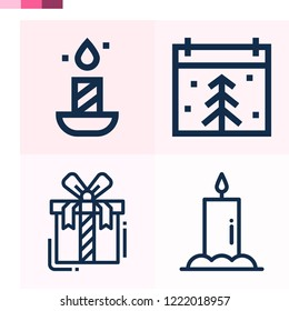 Contains such icons as candle, christmas day, gift and more 1000x1000 pixel perfect.