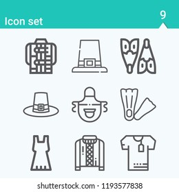 Contains such icons as dress, jacket, apron, shirts, sweater, flippers, flipper and more.  1000x1000 pixel perfect.