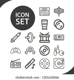Contains such icons as gamepad, wheel, bowling, djembe, radio, cymbal, film, drum, turntable, instrument, ticket, vinyl, cymbals and more.  1000x1000 pixel perfect.