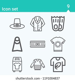 Contains such icons as garter, jacket, tshirt, clothes donation, shirt, flipper, sweater, flippers and more.  1000x1000 pixel perfect.