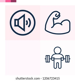 Contains such icons as hovercraft, barbell weightlifting, muscles and more 1000x1000 pixel perfect.
