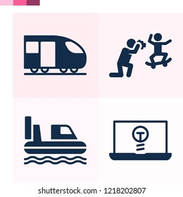 Contains such icons as hovercraft, laptop, train and more 1000x1000 pixel perfect.
