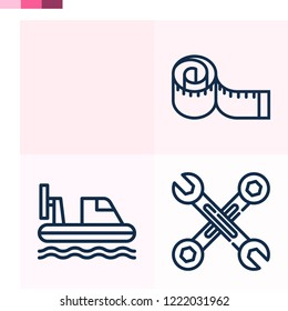 Contains such icons as hovercraft, wrench, measuring tape and more 1000x1000 pixel perfect.