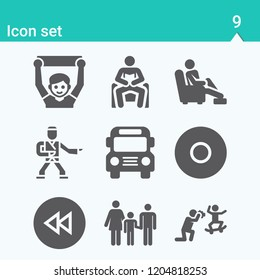 Contains such icons as karate, fan, school bus, family, fathers day, relax, backward and more.  1000x1000 pixel perfect.